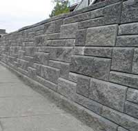 patterned retaining wall