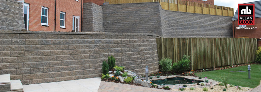 Retaining Walls with Curves and Corners by Allan Block