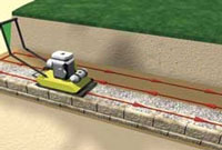 Backfill over grid and compact