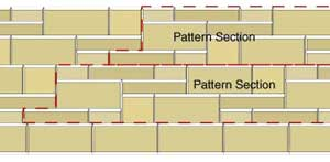 Offset the retaining wall patterns