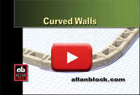 How to build a curved retaining wall