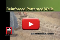 How to build a patterned retaining wall