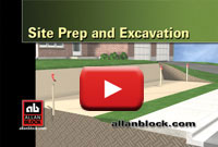 How to prepare retaining wall base