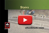 How to build retaining wall stairs