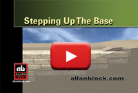 How to build a retaining wall up a slope