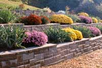 SRW Wall with terrace using AB Collection AB Ashlar Blend