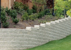 retaining wall using step downs in the AB Collection from Allan Block