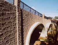 commercial retaining wall bridge