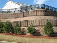 Retaining Wall Terraces with Fences above